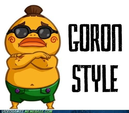 gangamn style,goron,legend of zelda,parody