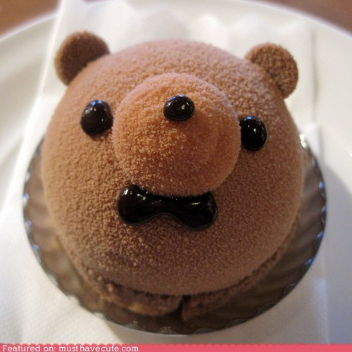 bear bow tie cake chocolate dessert mousse - 6535356160