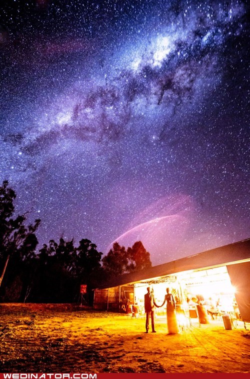 just pretty long exposure milky way night sky stars wedding - 6535385600