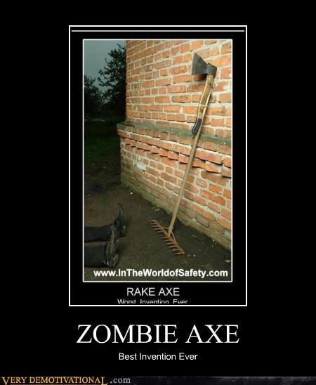 awesome,axe,invention,rake,zombie