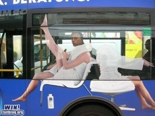 advertisement bus illusion perspective spa - 6535971072