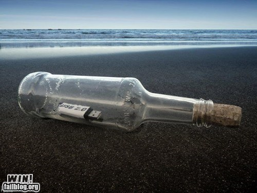beach message Message In A Bottle USB - 6535975424