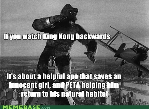 backwards movie king kong peta - 6536016896