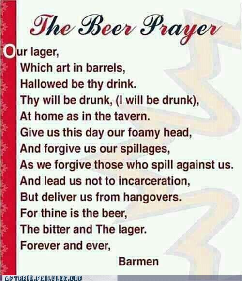 alcohol beer drinking preach the beer prayer - 6536230912
