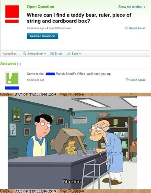 family guy pedo bear yahoo answers troll - 6536651520