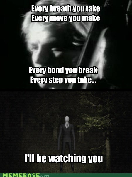every breath you take slenderman the police