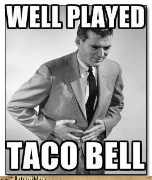 indigestion man sick stomach taco bell - 6537041664