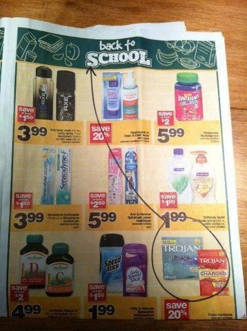 back to school contraceptives school supplies trojans - 6537155840