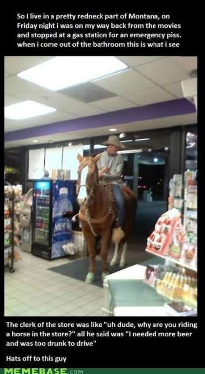 drinking,hats,horse,Montana,rednecks