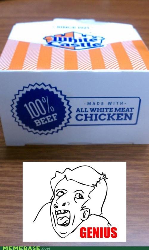 Beef chicken genius graphic design White Castle - 6537171200