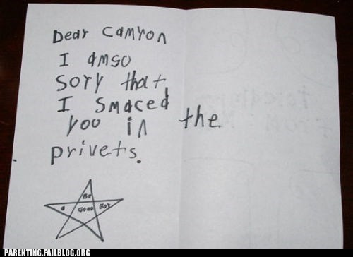 childrens-writing sorry - 6537258496