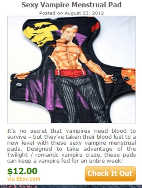 maxi pad,periods,vampire