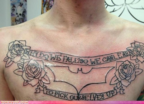 batman FAIL funny no tattoo the dark knight rises - 6537312768
