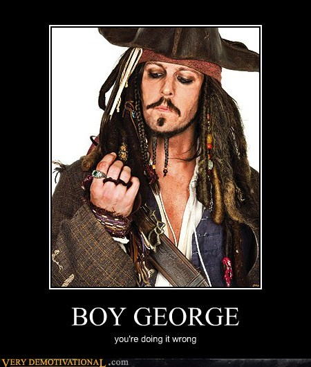 boy george Johnny Depp Pirate - 6537402368