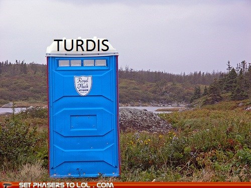 blue box,port-o-potty,pun,tardis,turd
