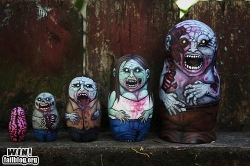 design nesting doll zombie - 6537535488