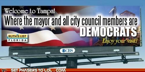 billboard,democrats,election 2012,rnc,tampa,welcome