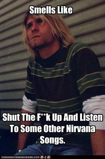 90s,celeb,funny,grunge,kurt cobain,Music,nirvana,rock,TLL