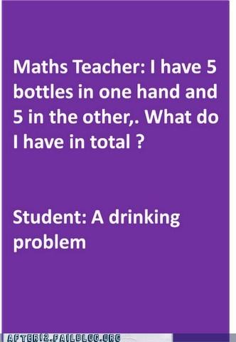 bottles drinking problem math teacher stop word problem - 6537768704