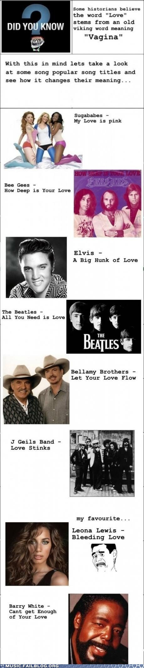 Elvis Presley love lyrics song titles the Beatles troll - 6537842944