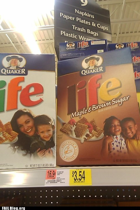 accidental racism,cereal,life,marketing,racist