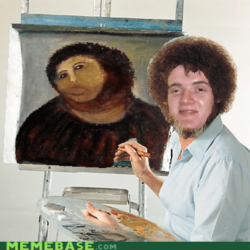 bob ross,fresco,high guy,jesus,restoration