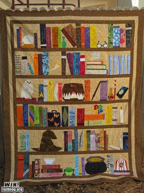 craft design Harry Potter Knitta Please nerdgasm quilt reading is sexy - 6537900544