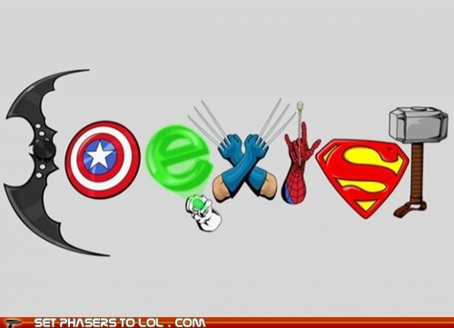batman captain america coexist Green lantern hammer mjolnir Spider-Man superman Thor wolverine - 6538193920