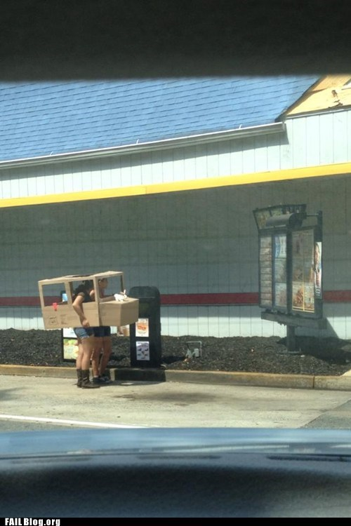 car,cardboard,DIY,drive thru,fast food