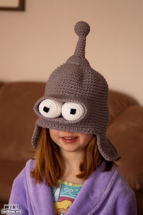 bender,best of week,cap,futurama,Hall of Fame,knitting,nerdgasm