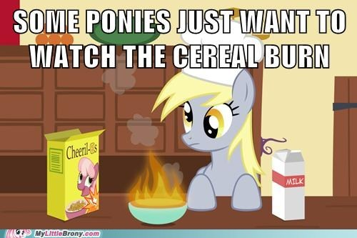 cereal,derpy hooves,watch the world burn