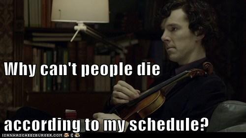 annoying bennedict cumberbatch die schedule Sherlock sherlock bbc - 6538469120