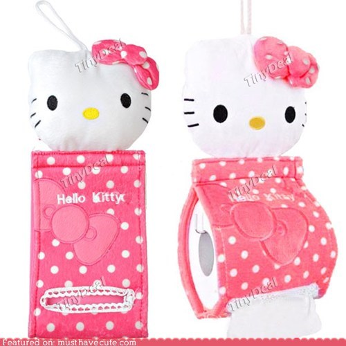 girly hello kitty pink tissue toilet paper unnecessary - 6538652672