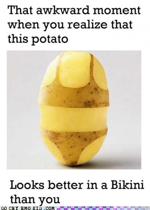 Awkward,bikini,potato