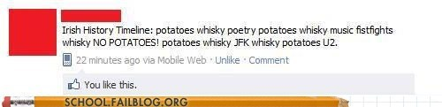 irish history,potatoes,whiskey