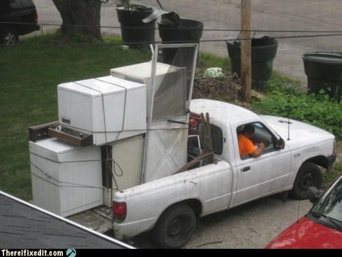 dishwasher dryer moving pickup truck stacking washing machine - 6538869760