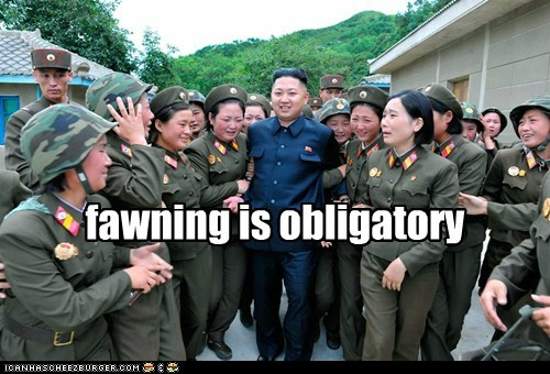 army crying fawning kim jong-un military North Korea women