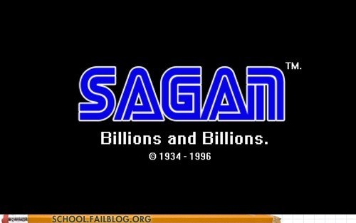 billions and billions logos sagan sega star stuff