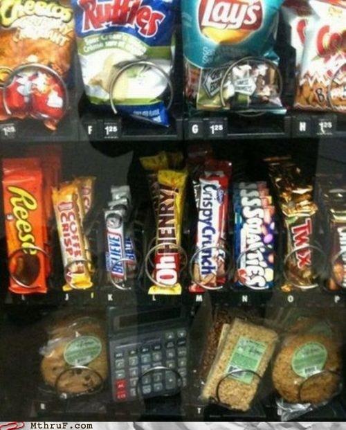 calculator candy bars snacks vending machine - 6539014912