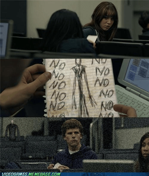 meme,slender,slender man,the social network