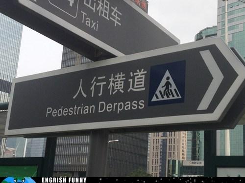 derp herp derp overpass sign - 6539082752