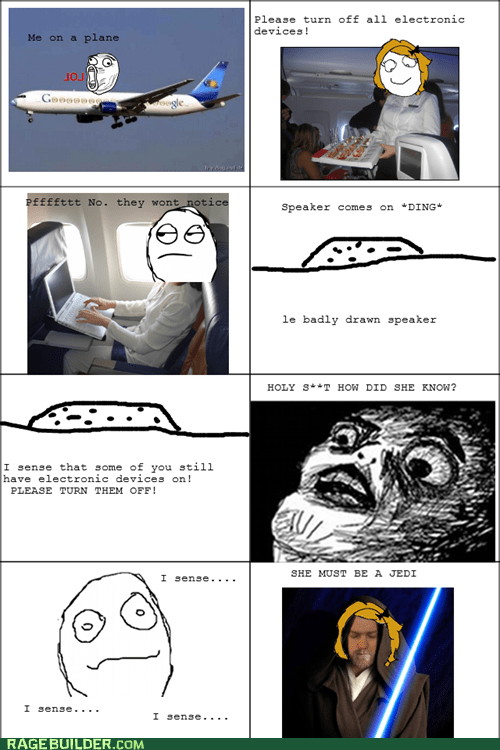 electronic devices,airplanes,Jedi