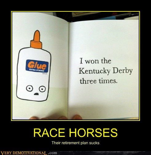 glue kentucky derby race horses - 6539379712