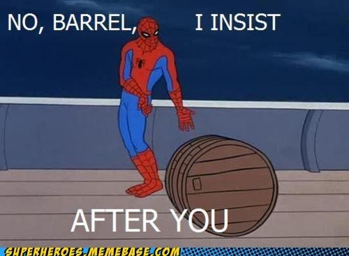 barrel polite Spider-Man - 6539519488
