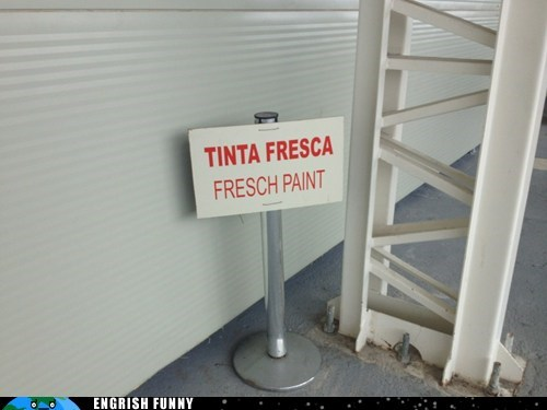 fresh paint sign spelling - 6539705600