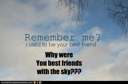 Why were You best friends with the sky???