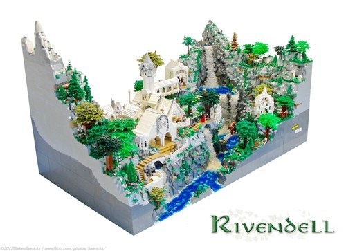 Mind-Blowing LEGO Rivendell of the Day