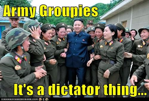 kim jong-un army groupies dictator picture