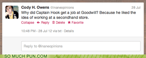 answer,captain hook,double meaning,hand,literalism,question,second,secondhand,twitter