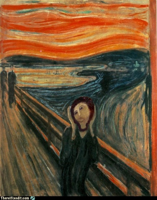 Edvard Munch,jesus restoration,potato jesus,The Scream